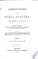 Agriculture and Rural Economy from Personal Observation