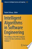 Intelligent Algorithms in Software Engineering