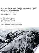 USGS Research on Energy Resources  1986