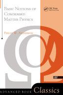 Basic Notions Of Condensed Matter Physics [Pdf/ePub] eBook