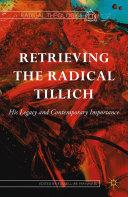 Pdf Retrieving the Radical Tillich Telecharger