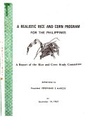 A Realistic Rice and Corn Program for the Philippines