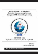 Recent Tendency in Aerospace  Robotics  Manufacturing Systems  Energy and Mechanical Engineering