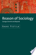 Reason of Sociology  : George Simmel and Beyond