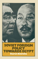 Soviet Foreign Policy Towards Egypt