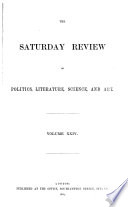 The Saturday Review Of Politics Literature Science Art And Finance