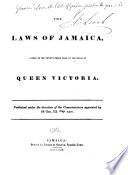 The Acts of Jamaica Passed in the Year