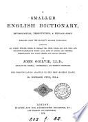 A smaller English dictionary Book