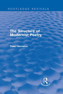The Structure of Modernist Poetry (Routledge Revivals)