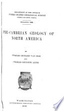 Pre Cambrian Geology of North America