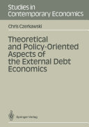 Theoretical and Policy-Oriented Aspects of the External Debt Economics Pdf/ePub eBook