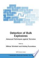 Detection Of Bulk Explosives Advanced Techniques Against Terrorism Book PDF