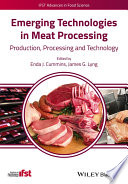 Emerging Technologies In Meat Processing Book PDF