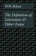 Pdf The Definition of Literature and Other Essays