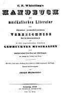 C. F. Whistling's Handbuch der musikalischen Literatur