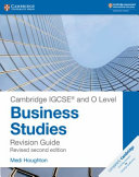 Books - New Cambridge Igcse� And O Level Business Studies Revision Guide Second Edition | ISBN 9781108441742