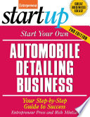 Start Your Own Automobile Detailing Business Book PDF