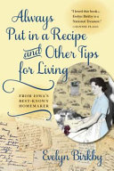 Always Put in a Recipe and Other Tips for Living from Iowa's Best-Known Homemaker Pdf/ePub eBook