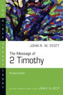 The Message of 2 Timothy Pdf/ePub eBook