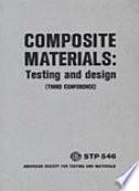 COMPOSITE MATERIALS  Testing and design