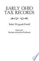 Early Ohio Tax Records