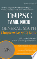 Math Chapterwise Solved Questions TNPSC TAMIL NADU PUBLIC SERVICE COMMISSION