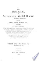 Journal of Nervous and Mental Disease Book