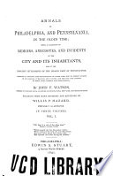 Annals of Philadelphia  and Pennsylvania  in the Olden Time Book