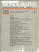 Journal of The National Cancer Institute Monographs  No  26  1999