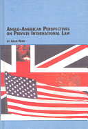 Anglo-American Perspectives on Private International Law