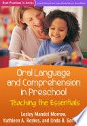 Oral Language and Comprehension in Preschool