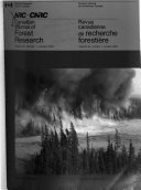 Canadian Journal of Forest Research Book PDF