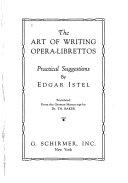 The Art of Writing Opera-librettos