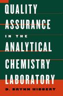 Quality Assurance in the Analytical Chemistry Laboratory Pdf/ePub eBook