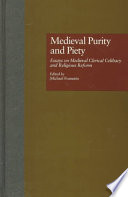 Medieval Purity and Piety Book