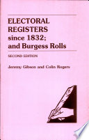 Electoral Registers Since 1832 And Burgess Rolls