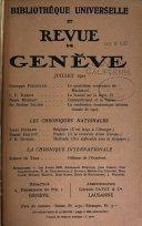 Bibliothèque universelle et revue de Genève