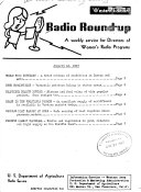 Radio Round Up A Weekly Service For Directors Of Women S Radio Programs Western Edition