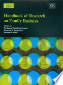 """Handbook of Research on Family Business"" by Panikkos Poutziouris, Kosmas Smyrnios, Sabine Klein"