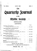 The Quarterly Journal Of The Mythic Society Bangalore