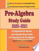 Pre Algebra Study Guide 2020   2021