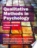 Qualitative Methods In Psychology  A Research Guide Book
