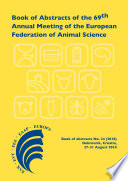 Book of Abstracts of the 69th Annual Meeting of the European Federation of Animal Science