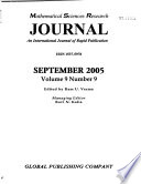 Mathematical Sciences Research Journal