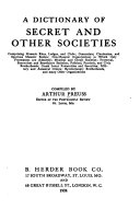A Dictionary Of Secret And Other Societies