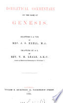 Homiletical Commentary On The Book Of Genesis Chapters I Viii By J S Exell Chapters Ix L By T H Leale