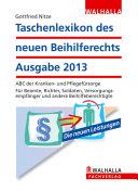 Taschenlexikon des neuen Beihilferechts Ausgabe 2013