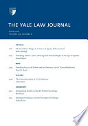 Yale Law Journal  Volume 125  Number 8   June 2016