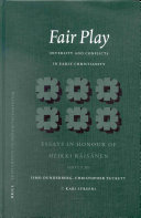 Fair Play: Diversity and Conflicts in Early Christianity: