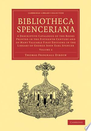 Download Bibliotheca Spenceriana PDF Book - PDFBooks